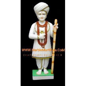 Multicolor Jalaram Bapa Marble Statue