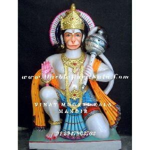 Multicolour Hanuman Marble Statue