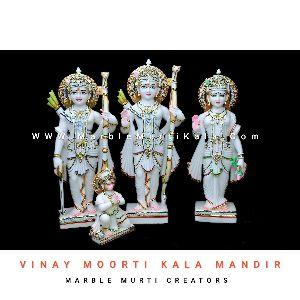 White Ram Darbar Marble Statue