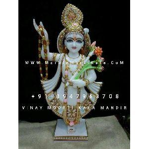 Yamunaji Marble Statue