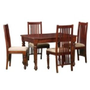 4 Seater Wooden Dining Table Set 01