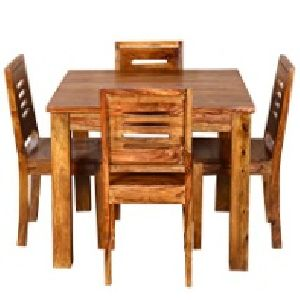 4 Seater Wooden Dining Table Set 02