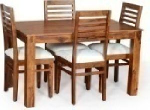 4 Seater Wooden Dining Table Set 04