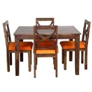 4 Seater Wooden Dining Table Set 05