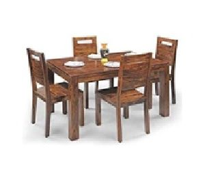 4 Seater Wooden Dining Table Set 06