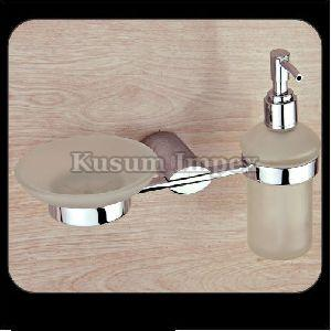 Liquid Dispenser Holder & Soap Dish (PR-LSD&SD-010)