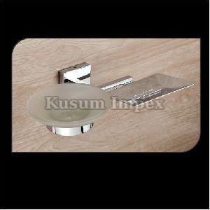 Metal & Glass Soap Dish (ST-CSD-017)