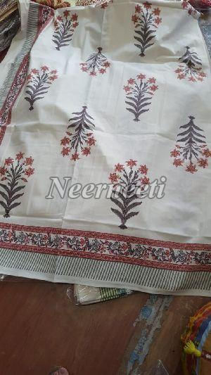 3019 Embroidered Cotton Bed Cover