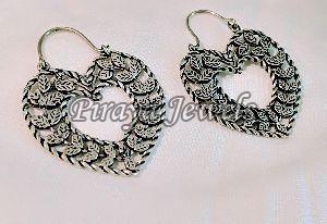 E0003 Oxidised Brass Earrings