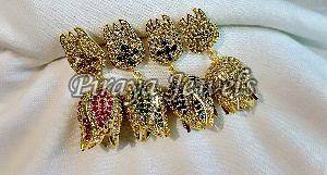 E0004SYN Multi Gold Plated Earrings