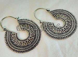 E0005 Oxidised Brass Earrings