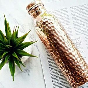 Hammered Copper Water Bottle