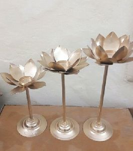 Metal Lotus Diya