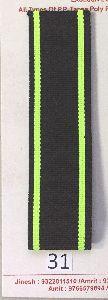 Black Neon Green Stripe Polyester Webbing