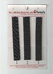 Black Stripe Polyester Webbing