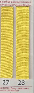 Lemon Yellow Stripe Polyester Webbing