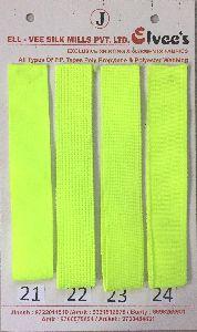 Neon Green Stripe Polyester Webbing