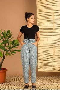Blue Check Handloom Pant