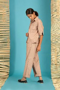Brown Cotton Shirt