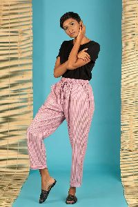 Pink Striped Pant