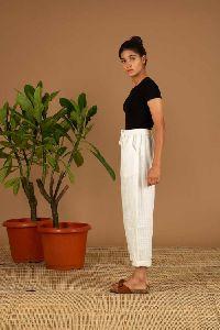 White Check Handloom Pant