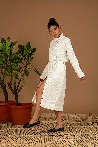 White Handloom Dress