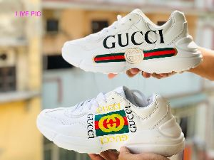 Gucci Rhyton Leather Sneakers shoes