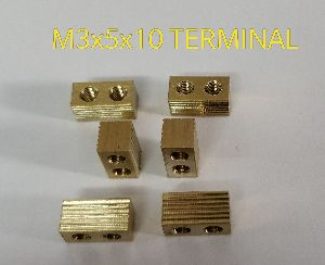 Brass Rectangle Terminal With Knurling