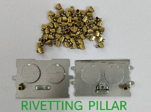 Brass Rivetting Pillar With Plate