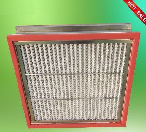 SS Sheet High Temperature HEPA Filter