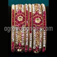 Lakh Brass Bangles Set