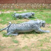 Marble Stone Lion Statue 05