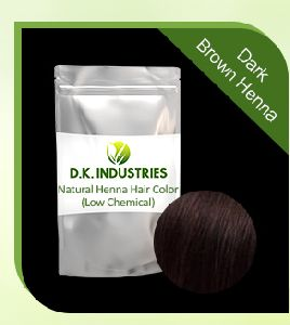 Dark Brown Henna Hair Color