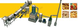 Fully Automatic Pellet Frying Line with Wooden Heat Exchanger