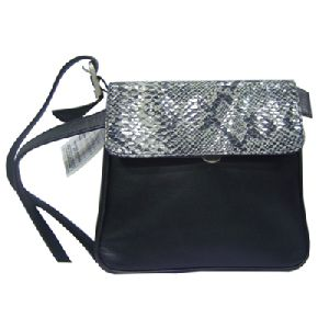 Article No 0795-A Black Ladies Leather Sling Bag