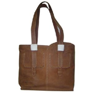 Article No 0802 Brown Ladies Leather Hand Bags