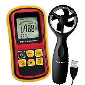 Digital Anemometer (Fan or Rotating Vane  and Hot Wire type)