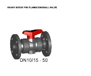 Heavy Duty PVC Flange End Ball Valve