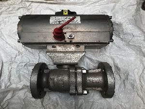 Pneumatic Actuator SS Flange End Ball Valve