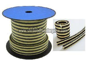 Yellow Black Gland Packing Rope