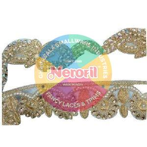 Stone Beaded Zari Lace
