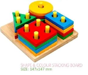 Shape and Color Stacking Board
