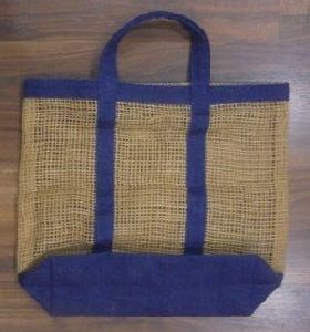 Jute Net Bag with Laminated Jute Strap