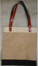Laminated Jute Bag With Rexin Handle