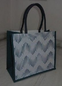 Off white Laminated Juco Bag