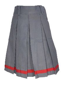 Girls Grey School Skirt