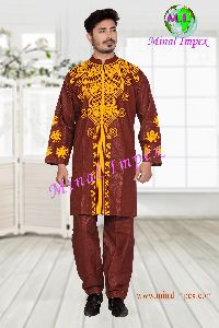 african style  Dress for man with embroidery