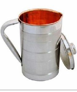 Steel & Copper Water Jug