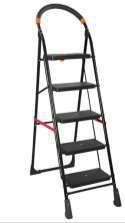 Iron 5 Step Ladder