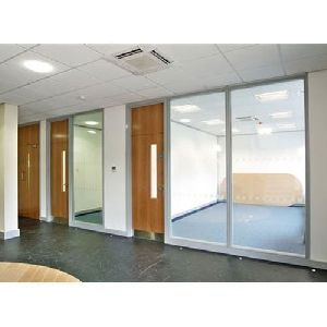 Aluminium Sliding Office Partition